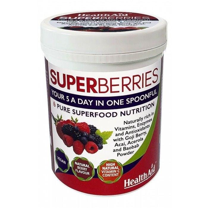 СУПЕР БЕРИС - естествени витамини, фитонутриенти и антиоксиданти - 180 гр. ХЕЛТ ЕЙД