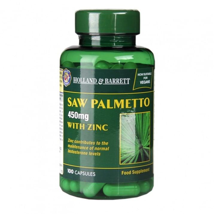 САО ПАЛМЕТО + ЦИНК при възпаление на простатната жлеза * 100капсули, HOLLAND & BARRETT