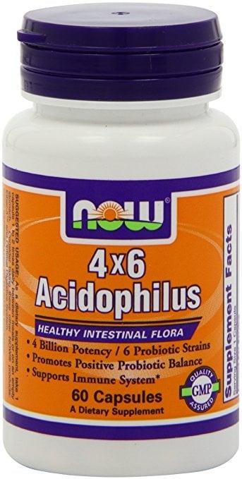 АЦИДОФИЛУС - пробиотик  - Хранителна добавка - капсули х 60, NOW FOODS