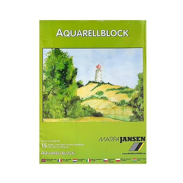 Хартия акварелна TORCHON, 250 g/m2 Хартия акварелна TORCHON, бяла 250 g/m2, 36 x 48 cm, 15л в блок,