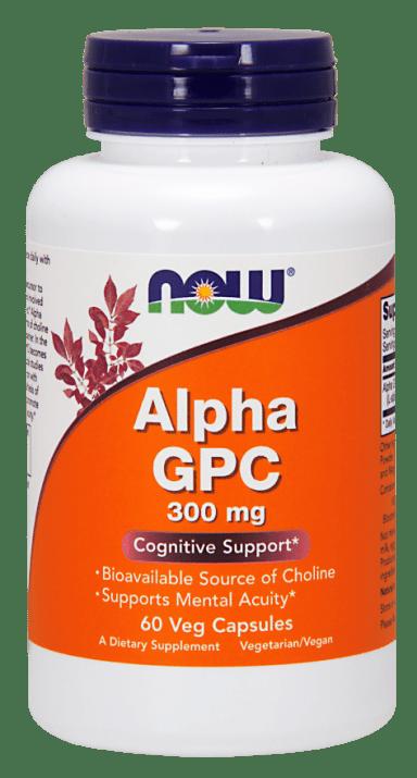 АЛФА ГЛИЦИЛФОСФОРИЛХОЛИН 300 мг. мозъчна функция и памет * 60капс., НАУ ФУДС