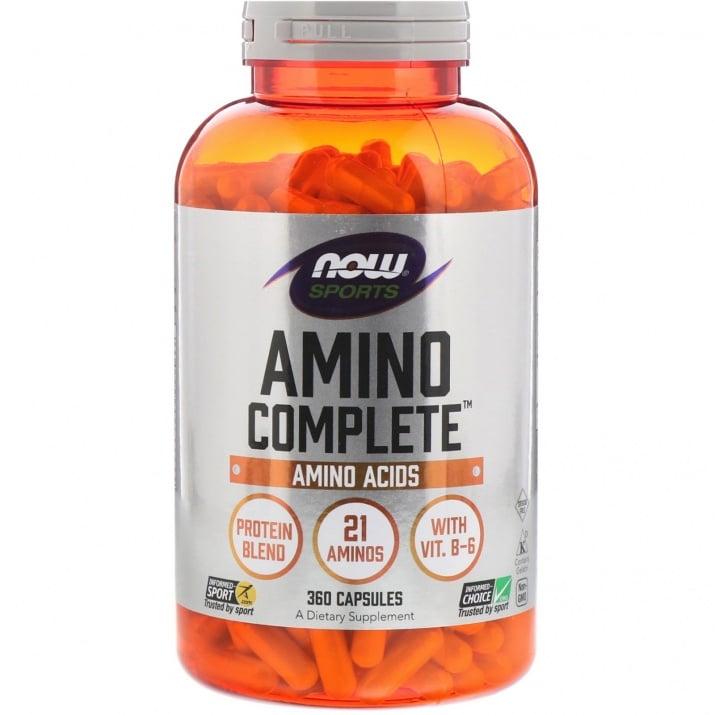 АМИНО КОМПЛИЙТ премахва мускулната умора 850 мг. * 360капсули, НАУ ФУДС