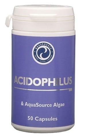 АЦИДОФИЛУС + ВОДОРАСЛИ - намалява нивата на вредния холестерол, предпазва пикочните и половите пътища от инфекции - капсули х 50, АКВАСОРС