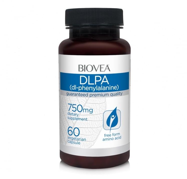 Dl - ФЕНИЛАЛАЛИН - облекчава хроничната болка, подобрява концентрацията и психичните функции - таблетки 750 мг. х 60, BIOVEA