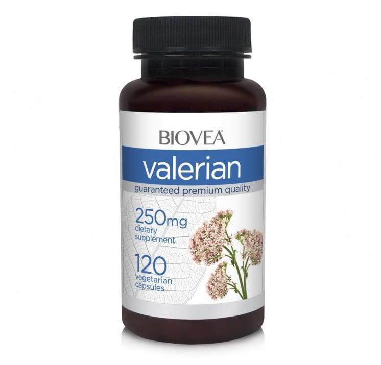 ВАЛЕРИАНА - поддържа спокоен отдих и сън - капсули 250 мг. х 120, BIOVEA