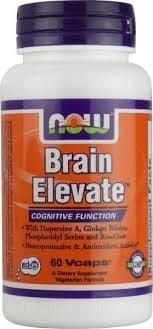 БРЕЙН ЕЛЕВЕЙТ - подобрява паметта и концентрацията - капсули х 60, NOW FOODS
