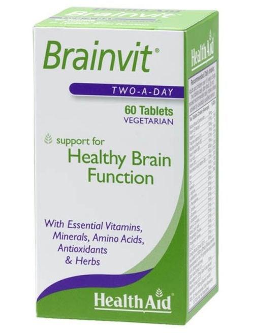 БРЕЙНВИТ - подобрява паметта и концентрацията - таблетки х 60, HEALTH AID