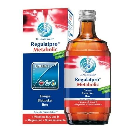 РЕГУЛАТПРО МЕТАБОЛИК СОЛУЦИО - енергия, нормална кръвна захар, здраво сърце - 350 мл., DR. NIEDERMAIER PHARM