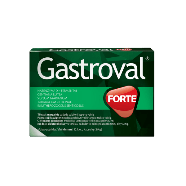 ГАСТРОВАЛ ФОРТЕ  естествени ензими и растителни екстракти * 12капсули , ВАЛЕНТИ