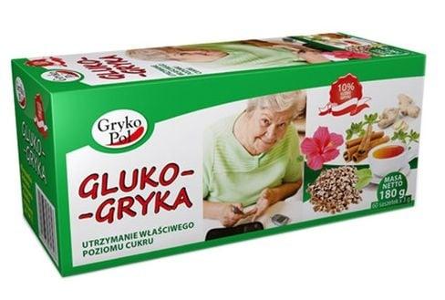 ЧАЙ ГЛЮКО ГРИКА - подпомага нормализирането нивата на кръвната захар - филтърни пакетчета х 60, GRYKOPOL