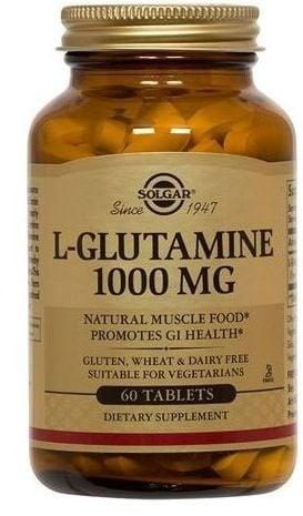 L - ГЛУТАМИН 1000 мг. за нормалното функциониране на имунната система, червата и мозъка * 60табл., СОЛГАР