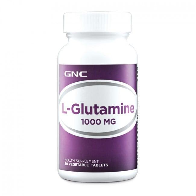 L - ГЛУТАМИН 1000 мг. - повишава издържливостта и мускулната сила * 50таблетки, GNC
