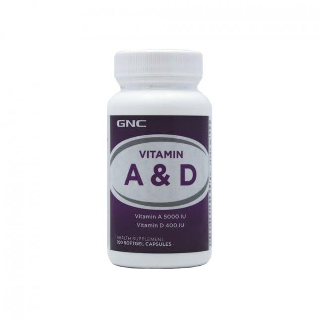 ВИТАМИН А + Д - подобрява имунитета - капсули х 100, GNC