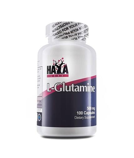 L - ГЛУТАМИН - подсилва възстановителните процеси в организма -  капсули 500 мг. х 100, HAYA LABS