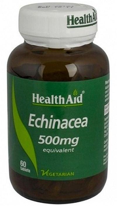ЕХИНАЦЕЯ - укрепва имунната система - таблетки 500 мг. х 60, HEALTH AID