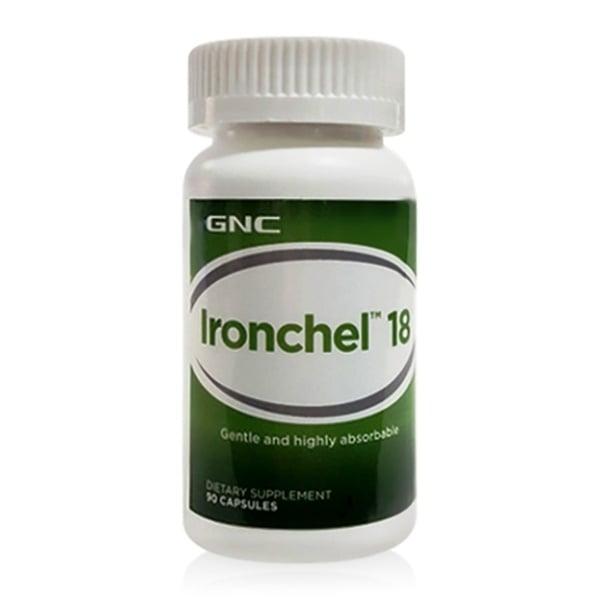 ХЕЛАТНО ЖЕЛЯЗО - изгражда хемоглобина - капсули 18 мг. х 90, GNC