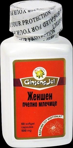 ЖЕН-ШЕН + ПЧЕЛНО МЛЕЧИЦЕ - подпомага метаболизма и растежа - капсули 500 мг. х 60, TNT 21