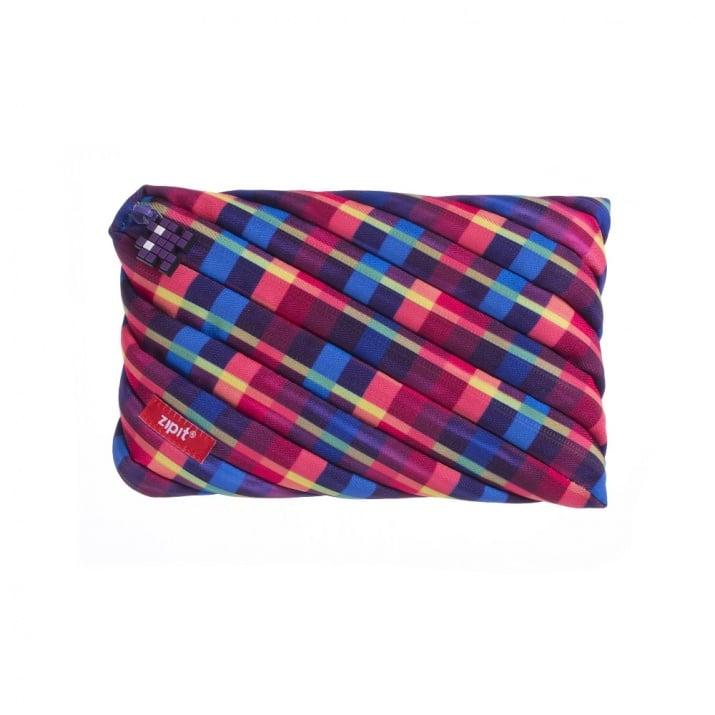 Jumbo несесер Pixel, 23x2x15cm, лилав