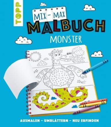 Книжка за оцветяване TOPP, Mix-Max-Malbuch Monster, 24 стр.