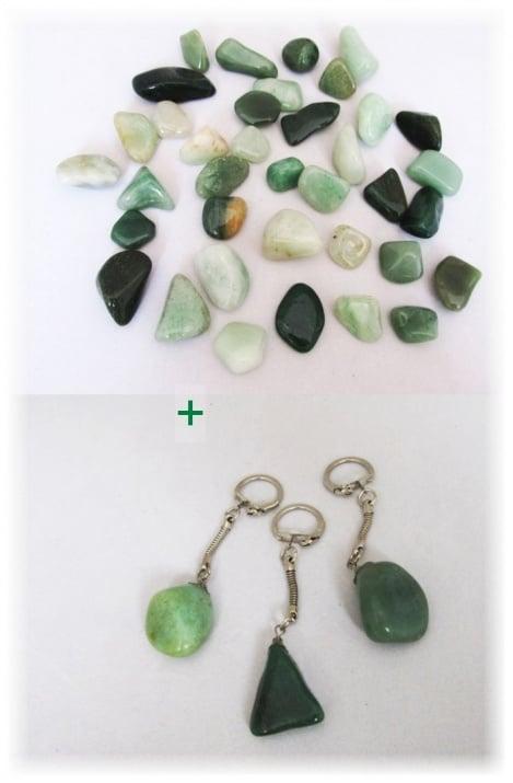 Комплект Ключодържател + Естествен камък АВАНТЮРИН