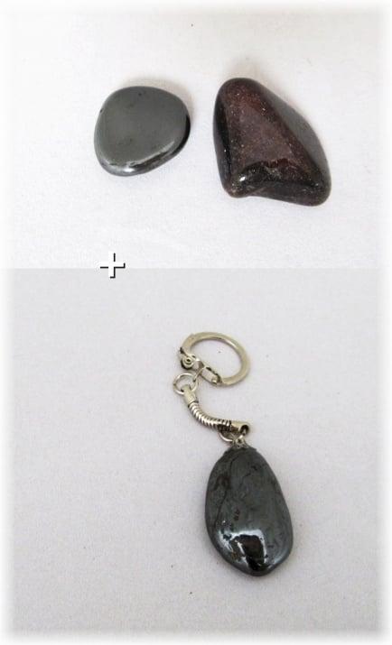 Комплект Ключодържател + Естествен камък ХЕМАТИТ