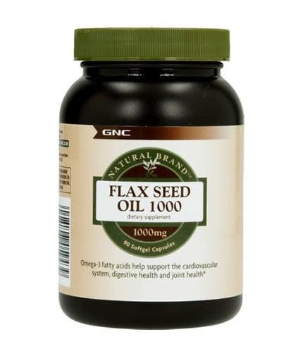 ЛЕНЕНО МАСЛО - подпомага сърдечно-съдовата система - капсули 1000 мг. х 90, GNC