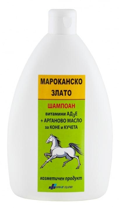 ЗАЗДРАВЯВАЩ ШАМПОАН МАРОКАНСКО ЗЛАТО - с Арган и АД3Е, 500 мл.