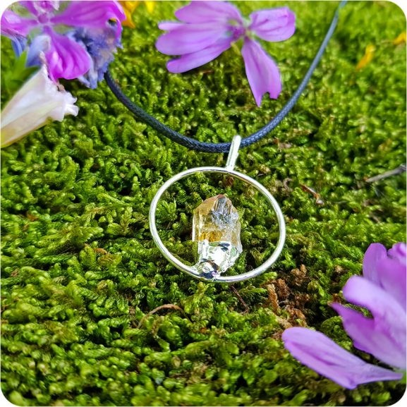 Медальон цитрин в пръстен