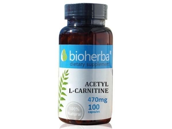 АЦЕТИЛ L-КАРНИТИН 470 мг. - 100капс., БИОХЕРБА
