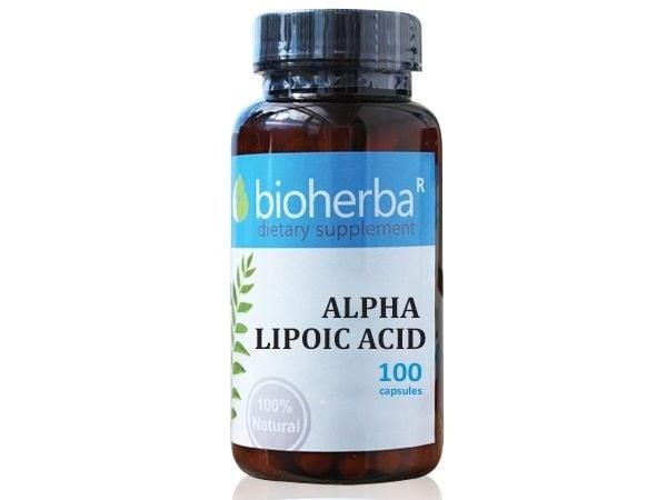 АЛФА ЛИПОЕВА КИСЕЛИНА 200 мг - 100капс., БИОХЕРБА