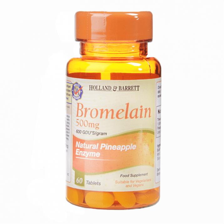 БРОМЕЛАИН таблетки 500 мг. * 60 HOLLAND & BARRETT