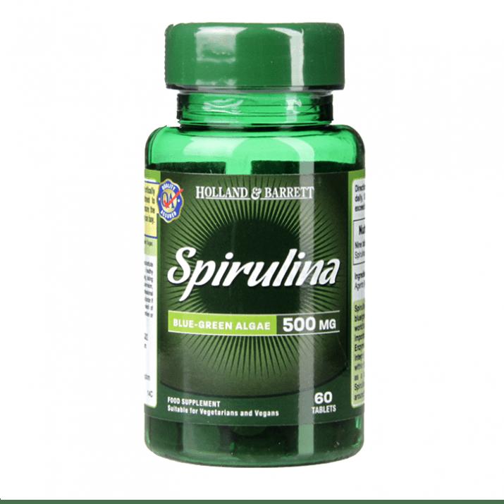 СПИРУЛИНА таблетки 500 мг * 60 HOLLAND & BARRETT