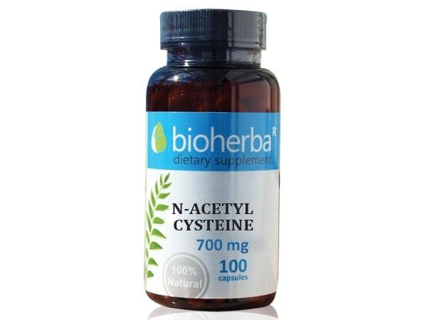 N-АЦЕТИЛ ЦИСТЕИН 700 мг. - 100капс., БИОХЕРБА