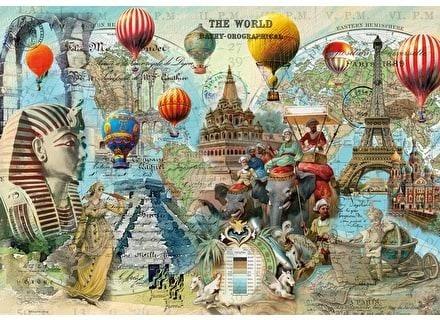 Пъзел художествен WENTWORTH, World Montage, 500 части