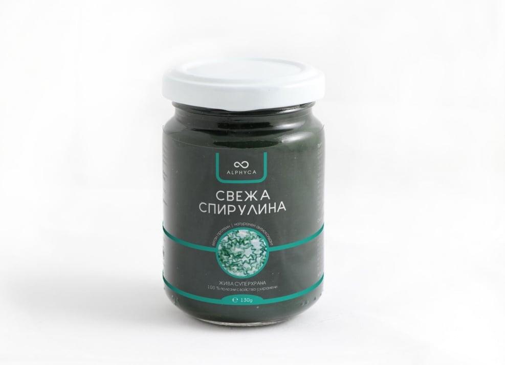 СПИРУЛИНА СВЕЖА ПАСТА - 100% натурална и свежа суперхрана - 130 гр., ALPHYCA