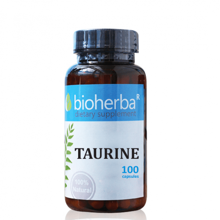 ТАУРИН 500 мг - 100капс., БИОХЕРБА