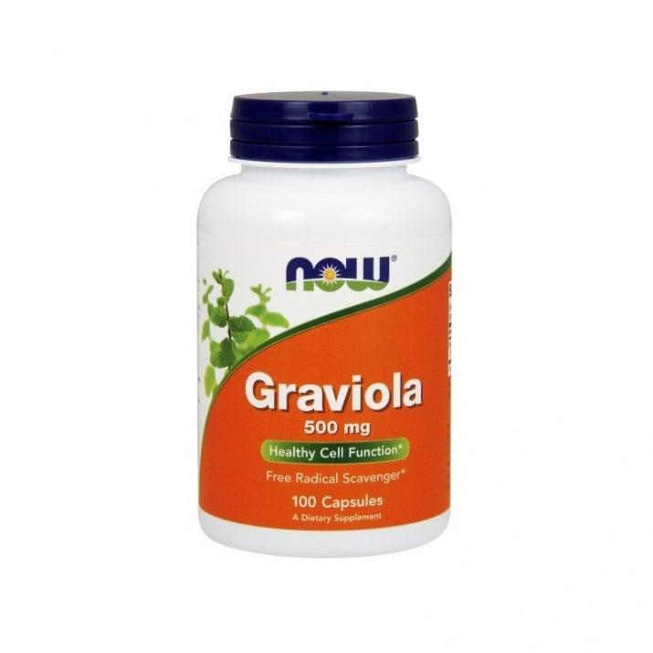 ГРАВИОЛА - регулира нивата на стрес - капсули 500 мг. х 100, NOW FOODS
