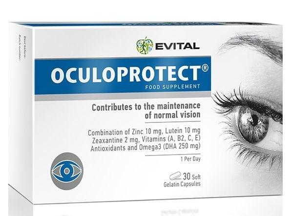 ОКУЛОПРОТЕКТ - поддържа нормалната функция на зрението - капсули х 30, EVITAL
