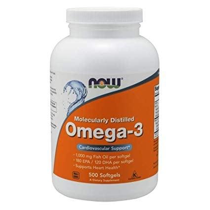 ОМЕГА - 3 1000 мг. от дълбоководни риби * 500дражета, НАУ ФУДС