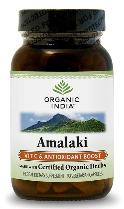 АМАЛАКИ - намалява токсините и доставя на организма витамин C - капсули 500 мг. x 90, ORGANIC INDIA