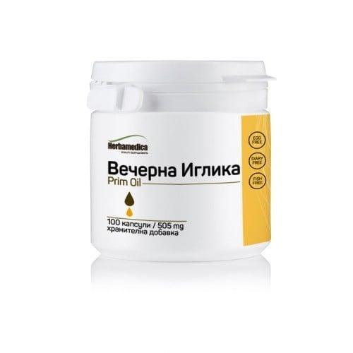 ПРИМ ОЙЛ – съдържа масло от вечерна иглика – капсули 500 мг. x 100, HERBA MEDICA