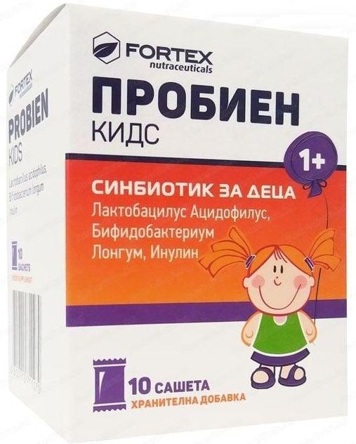 ПРОБИЕН КИДС - за нормална чревна флора при децата *10 сашета, ФОРТЕКС