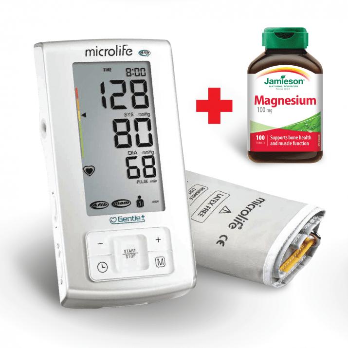 Апарат за кръвно налягане, BP A6 PLUS, електронен + ПОДАРЪК Magnesium 100mg