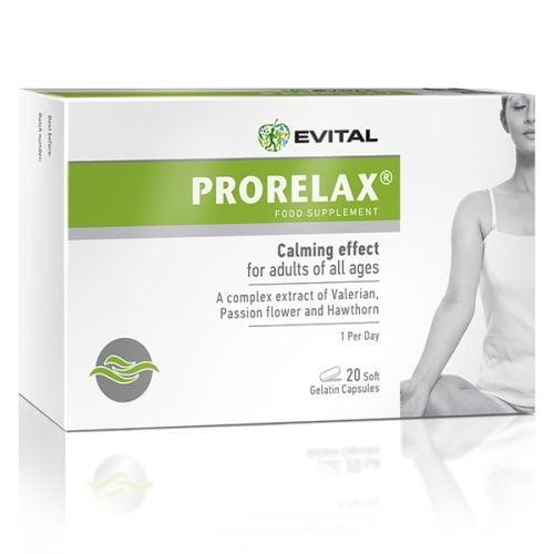 ПРОРЕЛАКС - успокоява цялата нервна система - капсули х 20, EVITAL