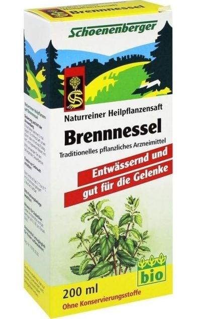 БИО СОК ОТ КОПРИВА - при проблеми с бъбреците и пикучните канали - 200 мл., SCOENENBERGER