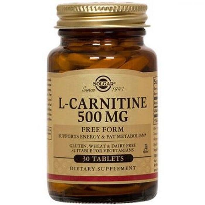 L - КАРНИТИН 500 мг. подпомага издръжливостта при спортуване или физически упражнения * 30таблетки, СОЛГАР
