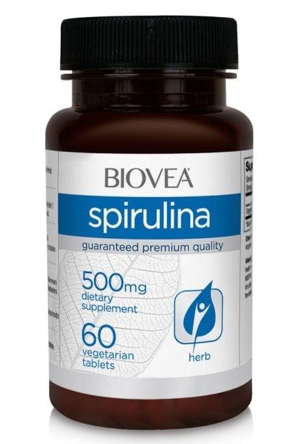 СПИРУЛИНА - чудесен източник на протеин, минерали и витамини - таблетки 500 мг. х 60, BIOVEA