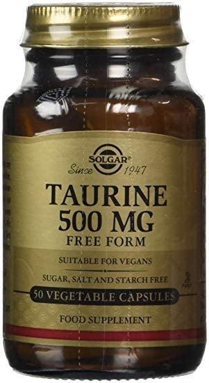 ТАУРИН - подсилва очите, мозъка и сърцето - капсули 500 мг. х 50, SOLGAR