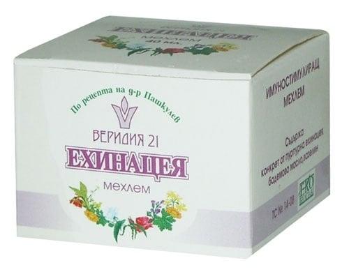 МЕХЛЕМ ЕХИНАЦЕЯ НА Д-Р ПАШКУЛЕВ - 40 мл., ВЕРИДИЯ 21