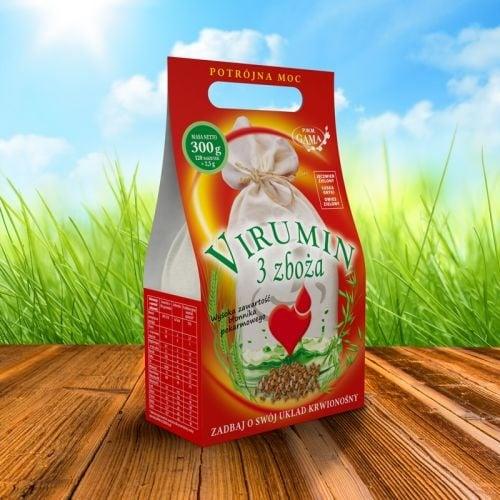 ВИРУМИН ТРИ ЗЪРНЕНИ ХРАНИ - осигурява витамини и минерали, необходими за доброто здраве - филтърни пакетчета х 120, P.W.M. GAMA